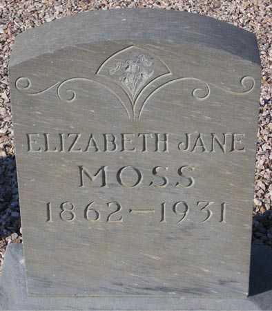 MOSS, ELIZABETH JANE - Maricopa County, Arizona | ELIZABETH JANE MOSS - Arizona Gravestone Photos