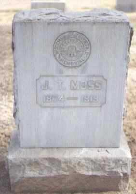 MOSS, J. T. - Maricopa County, Arizona | J. T. MOSS - Arizona Gravestone Photos