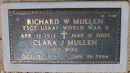 MULLEN, RICHARD W. - Maricopa County, Arizona   RICHARD W. MULLEN - Arizona Gravestone Photos