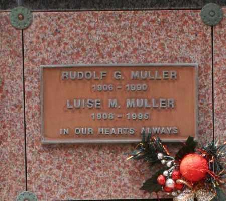 MULLER, LUISE M. - Maricopa County, Arizona | LUISE M. MULLER - Arizona Gravestone Photos
