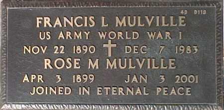 MULVILLE, ROSE M. - Maricopa County, Arizona   ROSE M. MULVILLE - Arizona Gravestone Photos