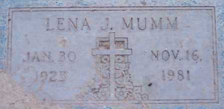 MUMM, LENA J. - Maricopa County, Arizona | LENA J. MUMM - Arizona Gravestone Photos