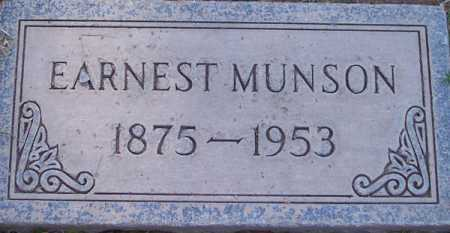 MUNSON, EARNEST - Maricopa County, Arizona | EARNEST MUNSON - Arizona Gravestone Photos