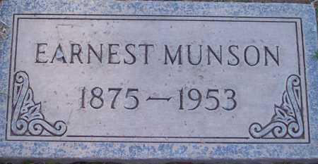 MUNSON, EARNEST - Maricopa County, Arizona | EARNEST MUNSON - Arizona Gravestone Photos
