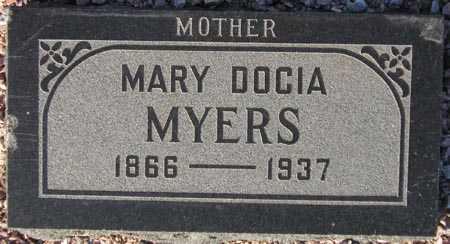 MYERS, MARY DOCIA - Maricopa County, Arizona | MARY DOCIA MYERS - Arizona Gravestone Photos