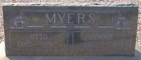 MYERS, JENNIE - Maricopa County, Arizona   JENNIE MYERS - Arizona Gravestone Photos