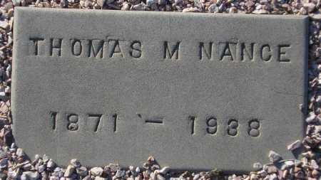 NANCE, THOMAS M. - Maricopa County, Arizona | THOMAS M. NANCE - Arizona Gravestone Photos