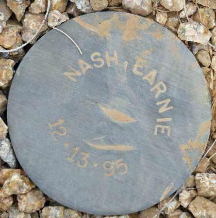NASH, EARNIE - Maricopa County, Arizona   EARNIE NASH - Arizona Gravestone Photos