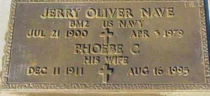 NAVE, JERRY OLIVER - Maricopa County, Arizona | JERRY OLIVER NAVE - Arizona Gravestone Photos