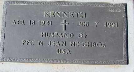 NEIGHBOR, KENNETH - Maricopa County, Arizona | KENNETH NEIGHBOR - Arizona Gravestone Photos