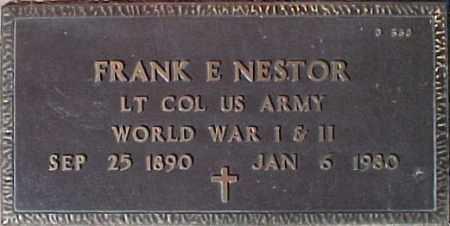 NESTOR, FRANK E. - Maricopa County, Arizona | FRANK E. NESTOR - Arizona Gravestone Photos