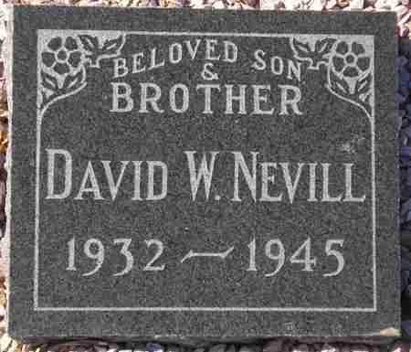 NEVILL, DAVID W. - Maricopa County, Arizona   DAVID W. NEVILL - Arizona Gravestone Photos