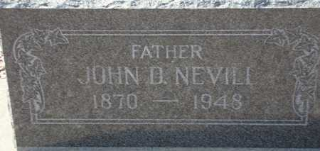 NEVILL, JOHN D. - Maricopa County, Arizona | JOHN D. NEVILL - Arizona Gravestone Photos
