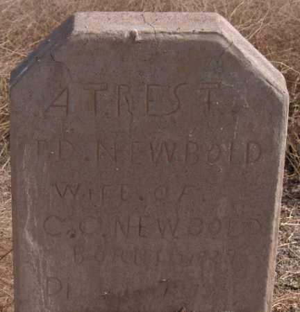 NEWBOLD, P. D. - Maricopa County, Arizona | P. D. NEWBOLD - Arizona Gravestone Photos