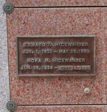 NICEWANDER, EDWARD T. - Maricopa County, Arizona | EDWARD T. NICEWANDER - Arizona Gravestone Photos