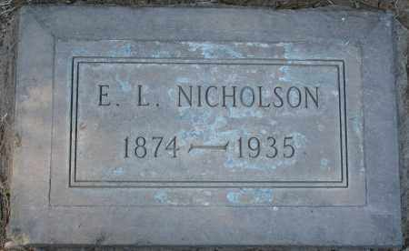 NICHOLSON, E L - Maricopa County, Arizona | E L NICHOLSON - Arizona Gravestone Photos