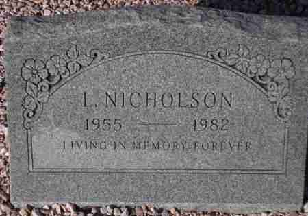 NICHOLSON, L. - Maricopa County, Arizona | L. NICHOLSON - Arizona Gravestone Photos