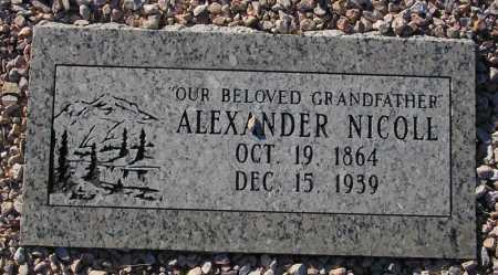 NICOLL, ALEXANDER - Maricopa County, Arizona | ALEXANDER NICOLL - Arizona Gravestone Photos
