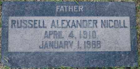 NICOLL, RUSSELL ALEXANDER - Maricopa County, Arizona | RUSSELL ALEXANDER NICOLL - Arizona Gravestone Photos