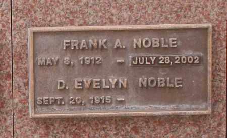 NOBLE, D. EVELYN - Maricopa County, Arizona   D. EVELYN NOBLE - Arizona Gravestone Photos