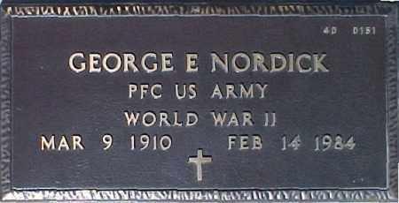 NORDICK, GEORGE E. - Maricopa County, Arizona | GEORGE E. NORDICK - Arizona Gravestone Photos