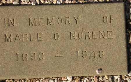 NORENE, MABLE O. - Maricopa County, Arizona   MABLE O. NORENE - Arizona Gravestone Photos