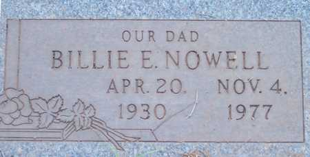 NOWELL, BILLIE E. - Maricopa County, Arizona | BILLIE E. NOWELL - Arizona Gravestone Photos