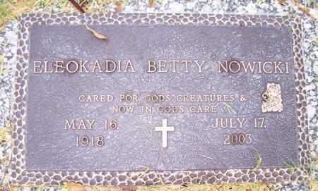 NOWICKI, ELEOKADIA BETTY - Maricopa County, Arizona   ELEOKADIA BETTY NOWICKI - Arizona Gravestone Photos