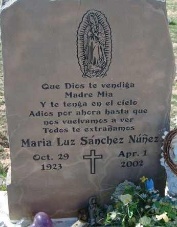 NUNEZ, MARIA LUZ - Maricopa County, Arizona | MARIA LUZ NUNEZ - Arizona Gravestone Photos