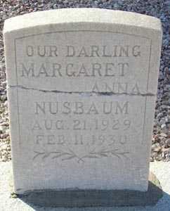 NUSBAUM, MARGARET ANNA - Maricopa County, Arizona | MARGARET ANNA NUSBAUM - Arizona Gravestone Photos