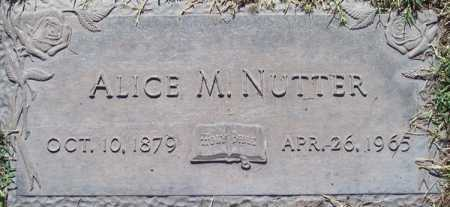 NUTTER, ALICE M. - Maricopa County, Arizona | ALICE M. NUTTER - Arizona Gravestone Photos