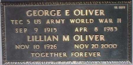 OLIVER, GEORGE E. - Maricopa County, Arizona   GEORGE E. OLIVER - Arizona Gravestone Photos