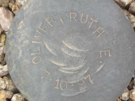 OLIVER, RUTH E. - Maricopa County, Arizona | RUTH E. OLIVER - Arizona Gravestone Photos
