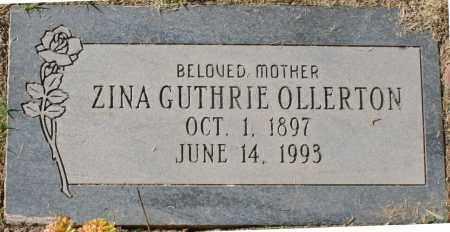 GUTHRIE OLLERTON, ZINA - Maricopa County, Arizona | ZINA GUTHRIE OLLERTON - Arizona Gravestone Photos