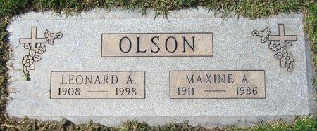 OLSON, LEONARD A - Maricopa County, Arizona | LEONARD A OLSON - Arizona Gravestone Photos
