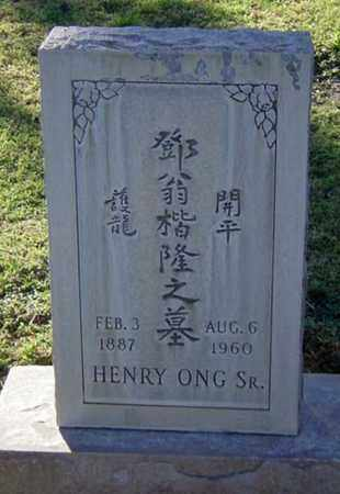 ONG, HENRY, SR - Maricopa County, Arizona | HENRY, SR ONG - Arizona Gravestone Photos