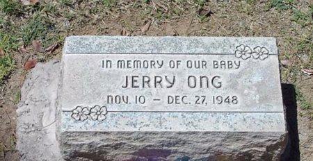 ONG, JERRY - Maricopa County, Arizona | JERRY ONG - Arizona Gravestone Photos