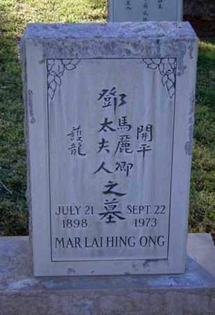 ONG, LAI HING - Maricopa County, Arizona   LAI HING ONG - Arizona Gravestone Photos
