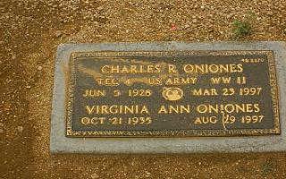 ONIONES, VIRGINIA ANN - Maricopa County, Arizona | VIRGINIA ANN ONIONES - Arizona Gravestone Photos
