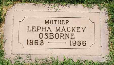 OSBORNE, LEPHA - Maricopa County, Arizona | LEPHA OSBORNE - Arizona Gravestone Photos