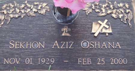OSHANA, SEKHON AZIZ - Maricopa County, Arizona | SEKHON AZIZ OSHANA - Arizona Gravestone Photos