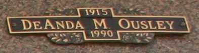 OUSLEY, DEANDA M - Maricopa County, Arizona | DEANDA M OUSLEY - Arizona Gravestone Photos