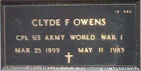 OWENS, CLYDE F. - Maricopa County, Arizona   CLYDE F. OWENS - Arizona Gravestone Photos