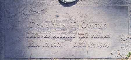 OWENS, FRANKLIN H. - Maricopa County, Arizona   FRANKLIN H. OWENS - Arizona Gravestone Photos