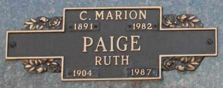 PAIGE, C. MARION - Maricopa County, Arizona | C. MARION PAIGE - Arizona Gravestone Photos