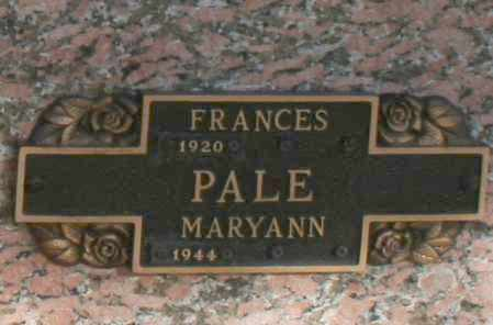 PALE, FRANCES - Maricopa County, Arizona | FRANCES PALE - Arizona Gravestone Photos