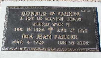 PARKER, DONALD W. - Maricopa County, Arizona | DONALD W. PARKER - Arizona Gravestone Photos