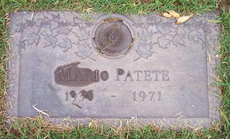 PATETE, MARIO - Maricopa County, Arizona | MARIO PATETE - Arizona Gravestone Photos