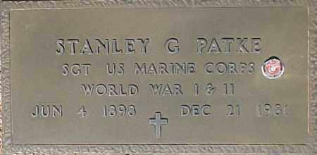 PATKE, STANLEY G - Maricopa County, Arizona | STANLEY G PATKE - Arizona Gravestone Photos