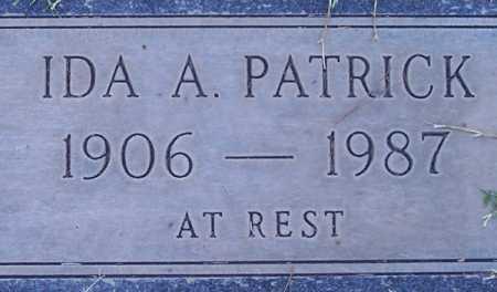 PATRICK, IDA A. - Maricopa County, Arizona   IDA A. PATRICK - Arizona Gravestone Photos